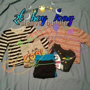 2T boys long sleeve shirt bundle 💙💋